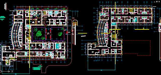 Hospital Project Design Autocad Dwg Drawings Hospital Design Hospital Plans Healthcare Design