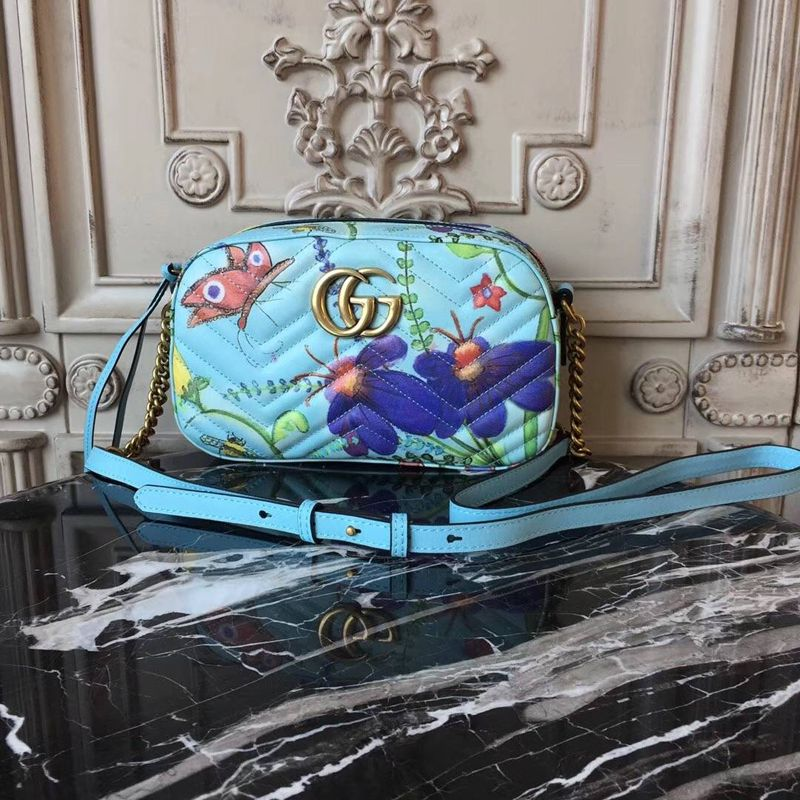 8257d39ca74a Gucci Unskilled Worker GG Marmont Shoulder Bag 447632   Gucci ...