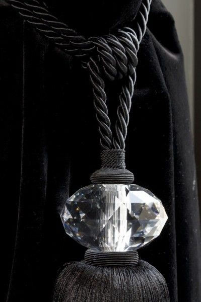 silk and crystal tiebacks = Bieke Vanhoutte