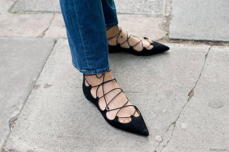75bf1552d77f6 Les ballerines à lacets sont les nouvelles chaussures tendance de l automne  2015.