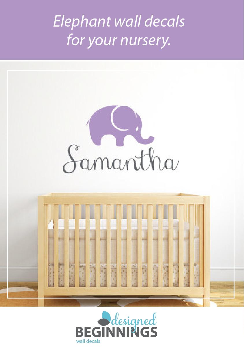 Elephant wall decals for your elephant nursery decor.
