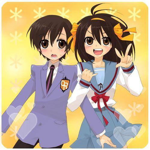 Haruhi Fujioka And Haruhi Suzumiya Ouran Highschool Host Club