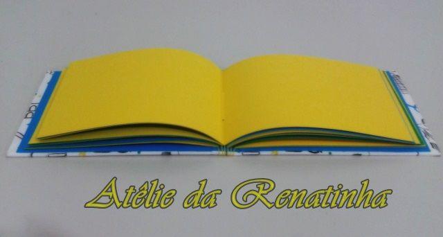Albún tema: Rio de Janeiro, com costura longstitch buttonhole.