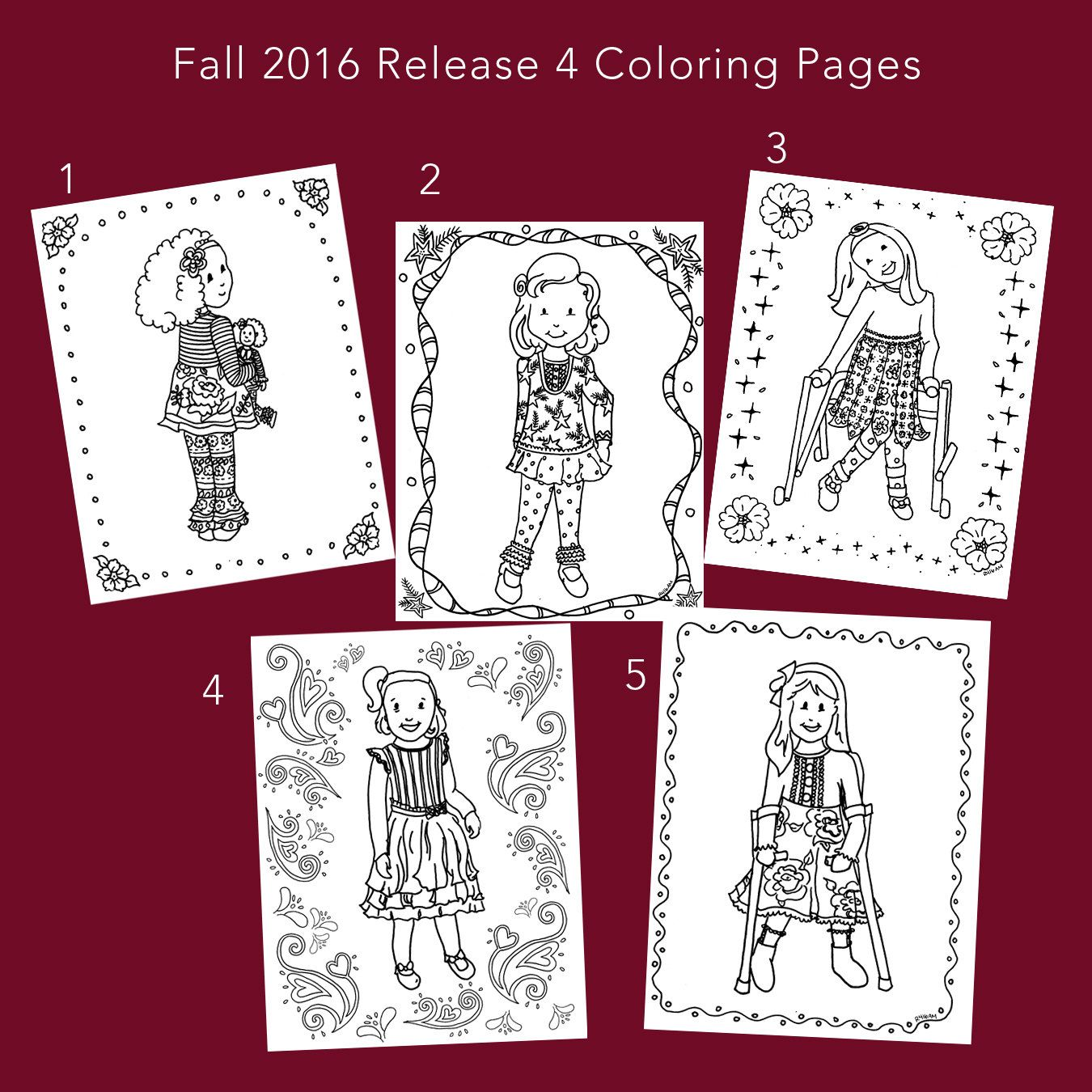 Matilda Jane Theme Release 4 Coloring Pages | Drawings | Pinterest ...