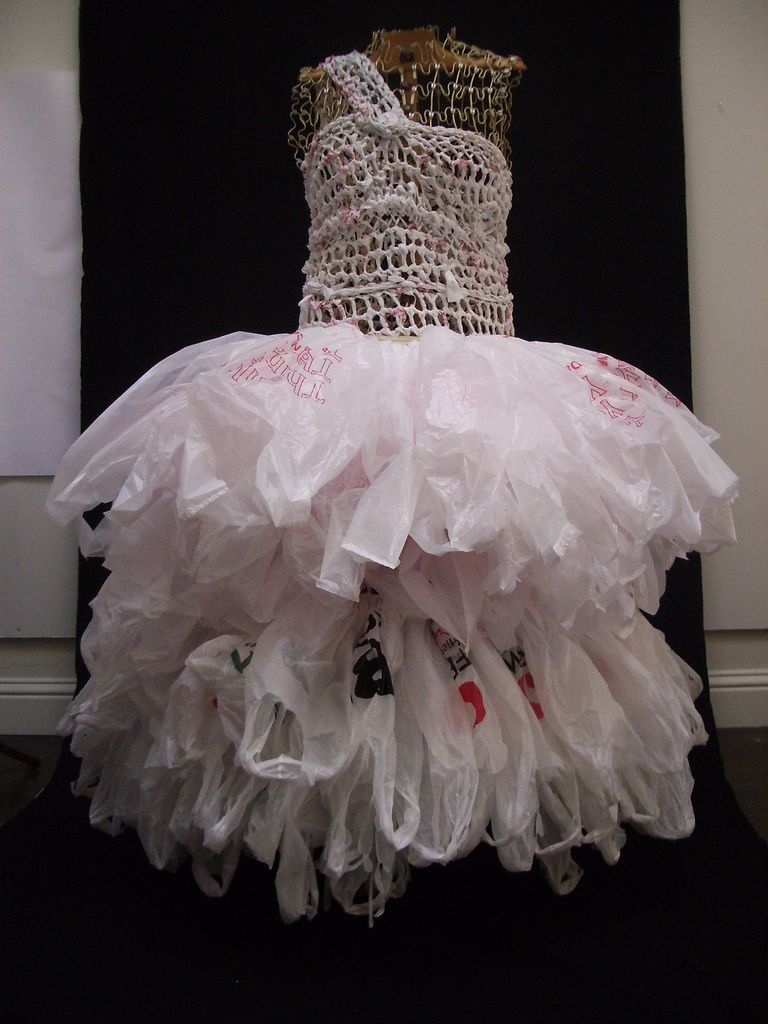 how to make a duct tape and trash bag dress