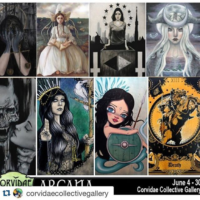 #Repost @corvidaecollectivegallery with @repostapp. @manitheuncanny ・・・ARCANA is opening soon! Join us on Saturday, June 4th to see the major tarot arcana interpreted by some of the best artists from around the world.  #tarot #art #nashville #occult #corvidaecollectivegallery #manitheuncanny