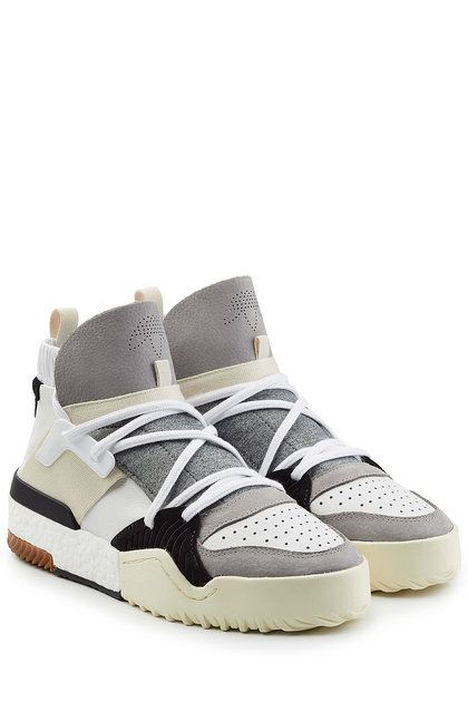 High Top Sneakers Mit Leder Adidas Originals By Alexander Wang Adidas White Shoes Sneakers Men Fashion Adidas Shoes Mens