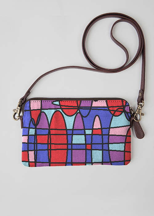 VIDA Leather Statement Clutch - Bubbleberry Blue by VIDA hes9Lus