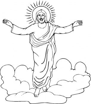 Resurrection Of Jesus coloring page | Super Coloring