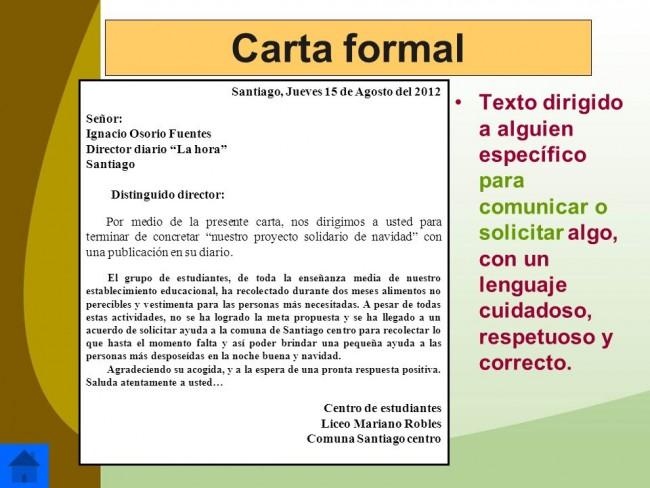 Ejemplos De Cartas Y Partes De Una Carta Ejemplo De Carta Formal Partes De Una Carta Cómo Escribir Una Carta