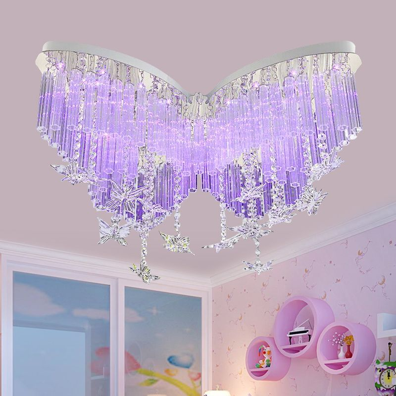 Geliefde Goedkope Kinderen lamp Vlinder LED Crystal plafond slaapkamer lamp YS03