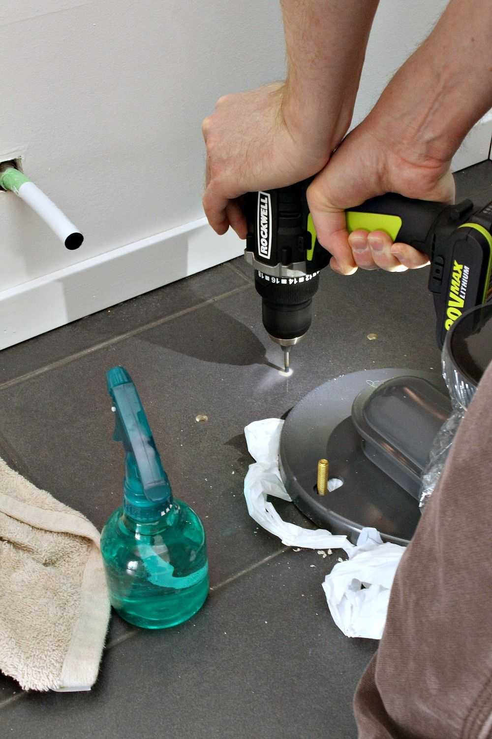 How to drill a hole in ceramic tile ceramic tile crafts