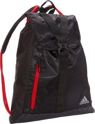 2f86f09923 adidas Ultimate Core Sackpack Black Light Scarlet - via eBags.com ...