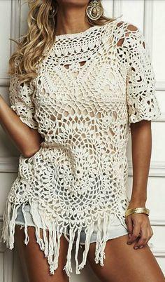 Leuk Ibiza Shirt Haken Met De Diagrammen Op De Site Top Haken