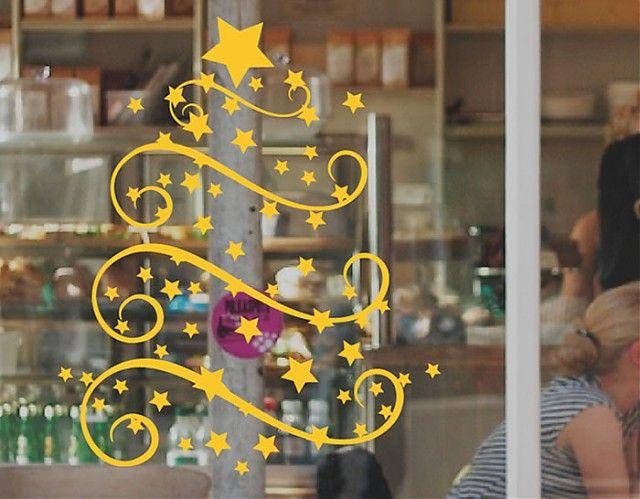 Vinilos navide os para decorar las paredes cristales y - Cristales para paredes ...