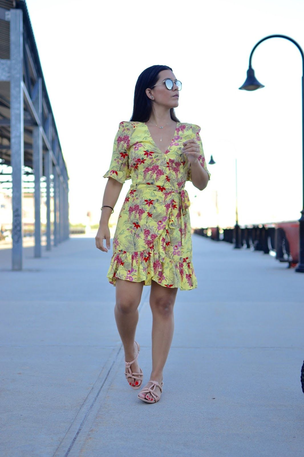 A Day In Hoboken Floral Dress Outfit Summer Summer Outfit Ideas Summer Wrap Dress Summer Dress Outfits Floral Dress Outfit Summer Floral Dress Outfits [ 1600 x 1066 Pixel ]
