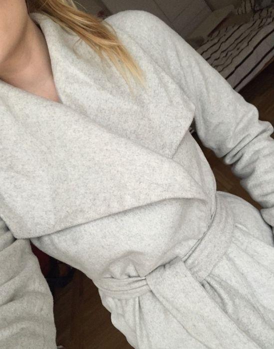 Vlněný šedý kabát zn.Mango 316cfd5a3a