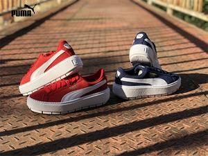PUMA SUEDE Platform Trace 367980-03-02-01 Women Badminton Shoes Rihanna 4 d0acb0973116