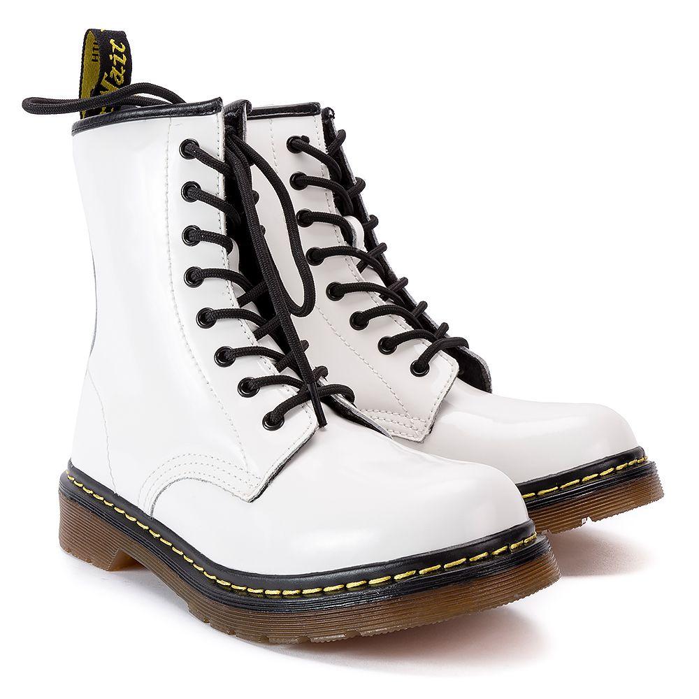 Glany Mckey Gl434 17 Wh Pat Biale Lakierowane Glany Buty Damskie Filippo Pl Combat Boots Boots Shoes