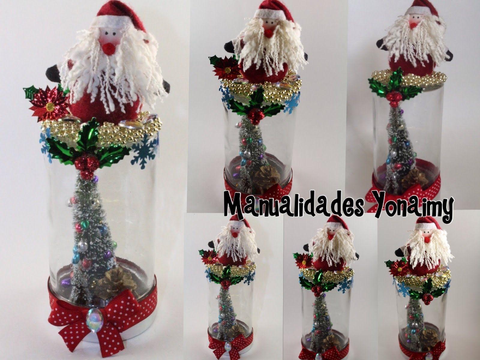 Adorno navide o hecho con un frasco reciclado botellas for Adornos navidenos hechos con botellas plasticas