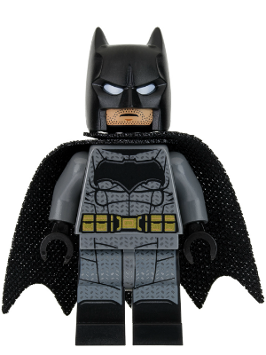 Lego Batman Dark Bluish Gray Suit Gold Belt Black Hands Large Bat Logo Printed Legs Stubble Minecraft Lego Lego Batman Lego Dc