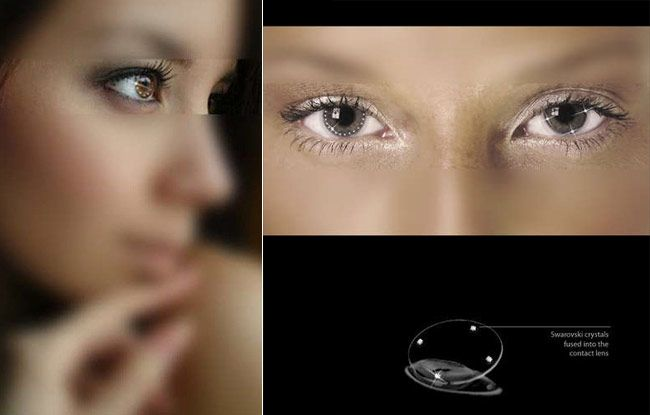 swarovski contact lenses your eyes will really sparkle things