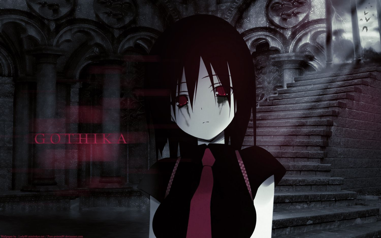 The Wallflower Anime Goth Girl Gothic, anime, black, emo