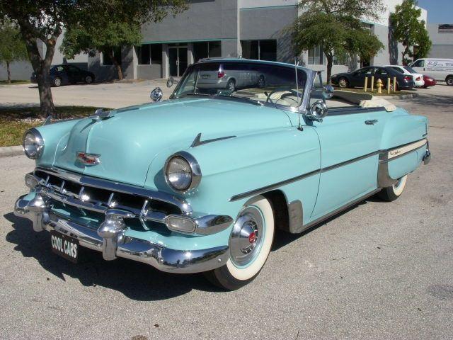 1954 Chevrolet Bel Air Convertible Light Blue Santa Baby
