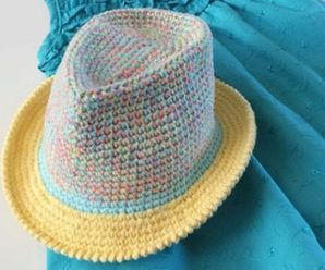 Crochet Fedora Hat (Video+Pattern)  26aa5a58052