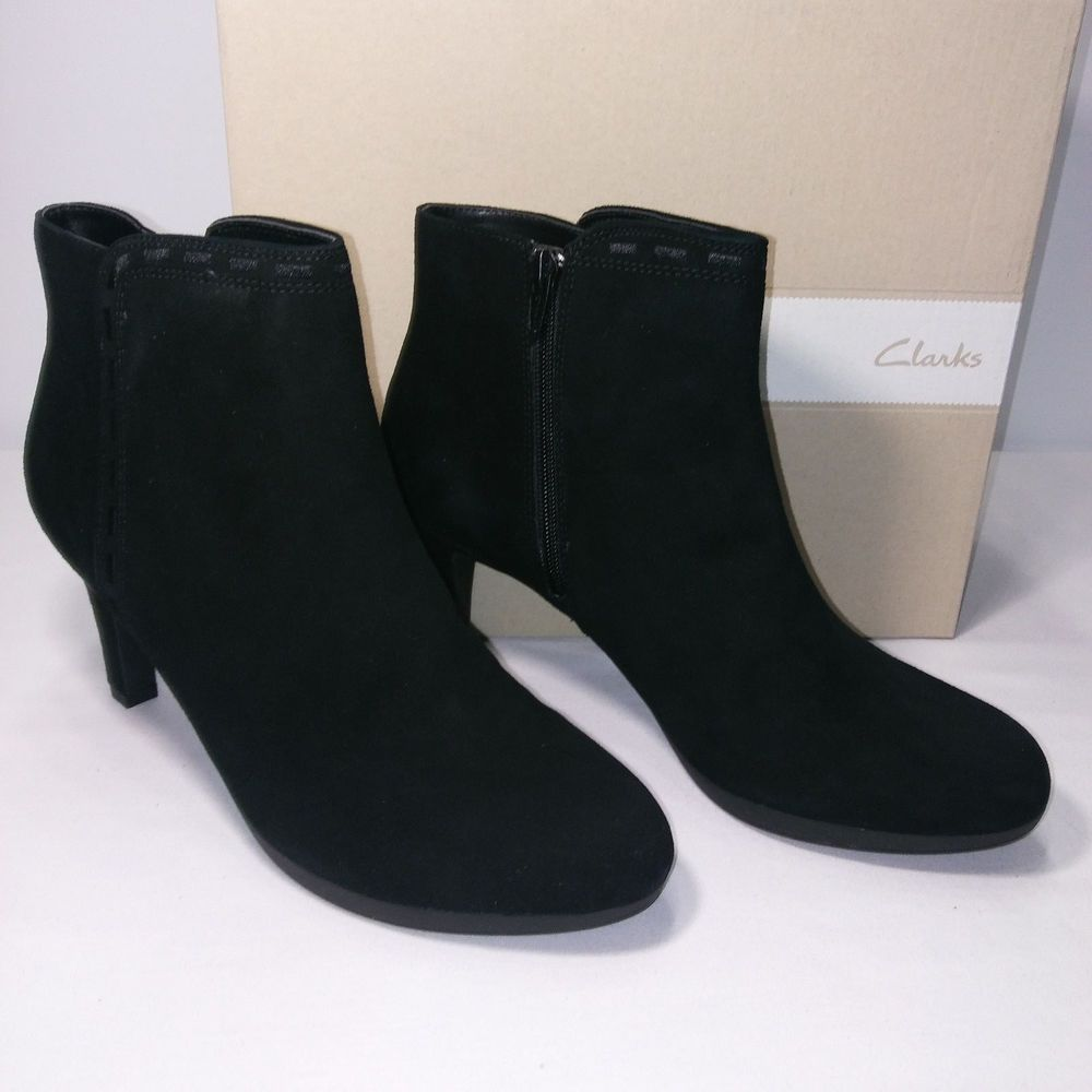 1532d719d2 Clarks Adriel Sadie Black Suede Ankle Boots Size 10M Brand New In Box Free  Ship #fashion #clothing #shoes #accessories #womensshoes #boots (ebay link)
