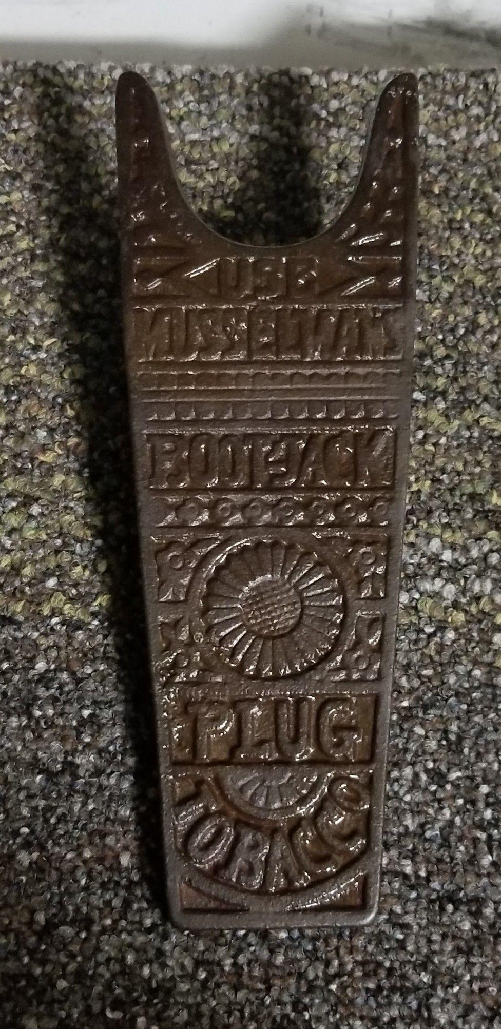 ca66b54ee5b ORIGINAL Boot-Jack Tobacco Plug Bootjack | Antique Tobacco ...