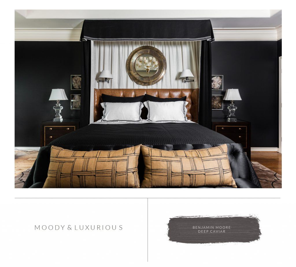 Marie Flanigan Interiors   8 Bedroom Paint Colors To Fit Any Mood    Benjamin Moore   Deep Caviar
