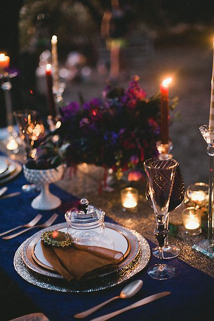 Jewel Tone Table Decor | photography by http://www.christinechoi.com/blog/