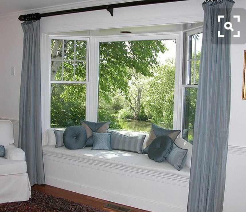 5 Curtain Ideas For Bay Windows Curtains Up Blog: (Bay Windows Are Hard To Curtain Up.) I'm Also Thinking