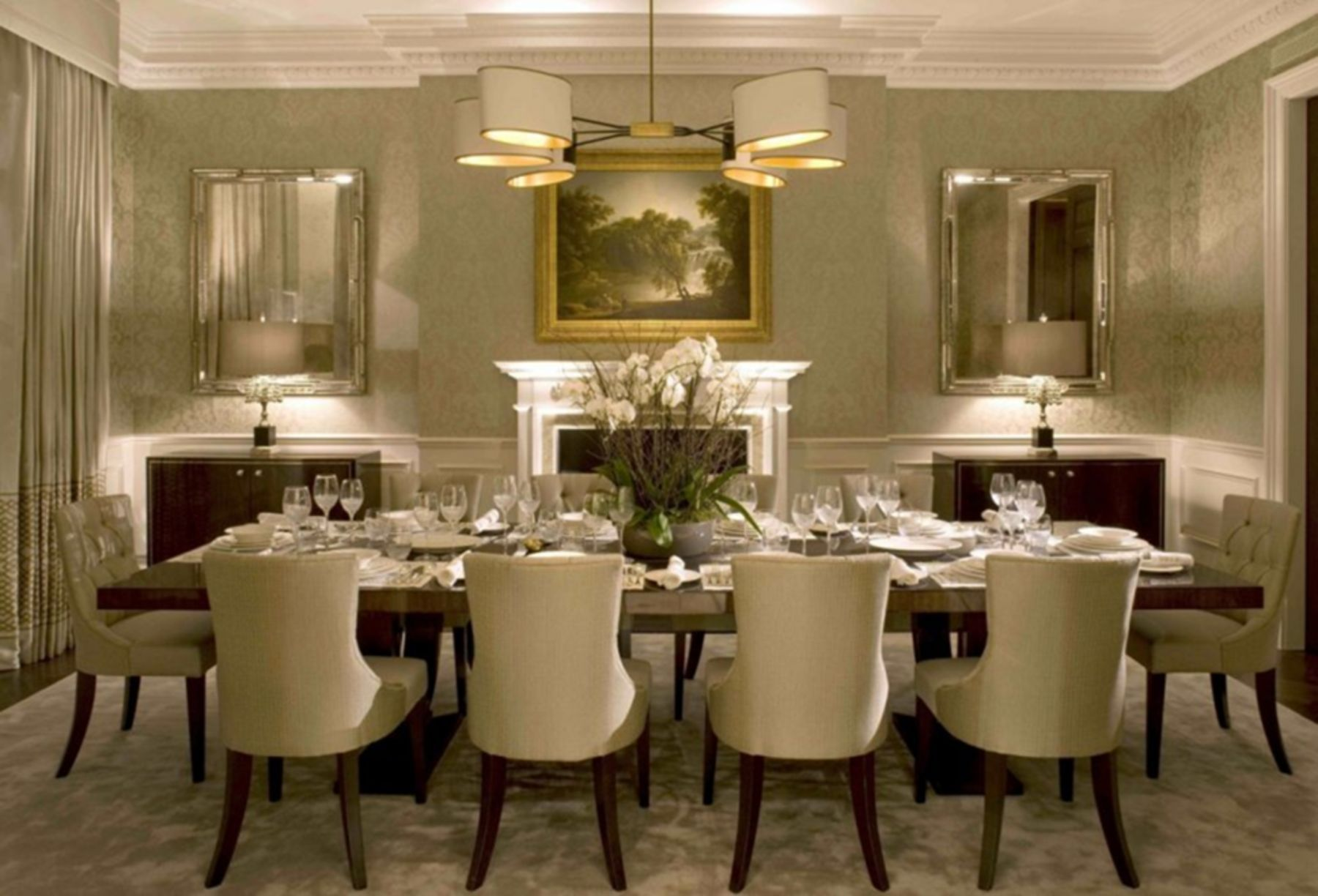 20 Luxurious Dining Room Design And Decorating Ideas Formal Dining Room Decor Luxury Dining Room Dining Room Table Centerpieces