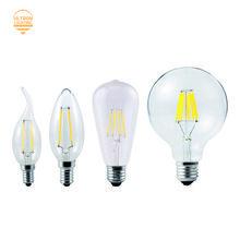Svetodiodnye Lampy E27 E14 2 Vt 4 Vt 6 Vt 8 Vt Vintazh Edison Lampy A60 St64 G45 C35 G95 G125 220v Prozrachnoe Steklo Nakalivaniya Svet Retro Lampy