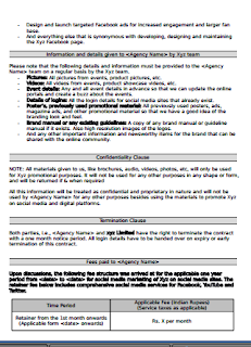 Social Media Marketing Contract Uk Social Media Agreement