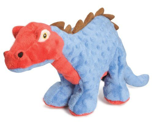 Godog Dinos Spike With Chew Guard Technology Tough Plush Dog Toy