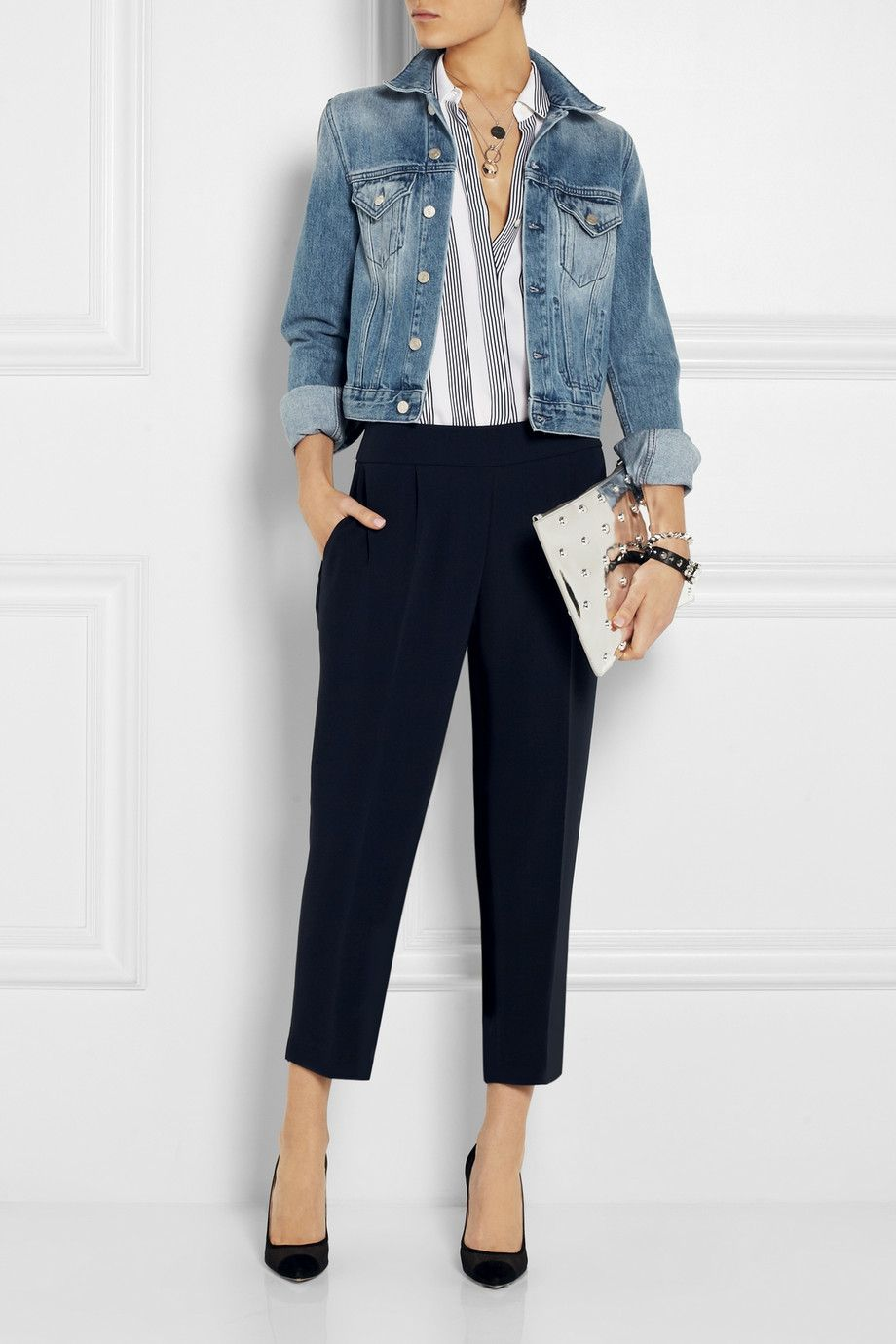 Women S Business Casual J Crew Curator Cropped Crepe