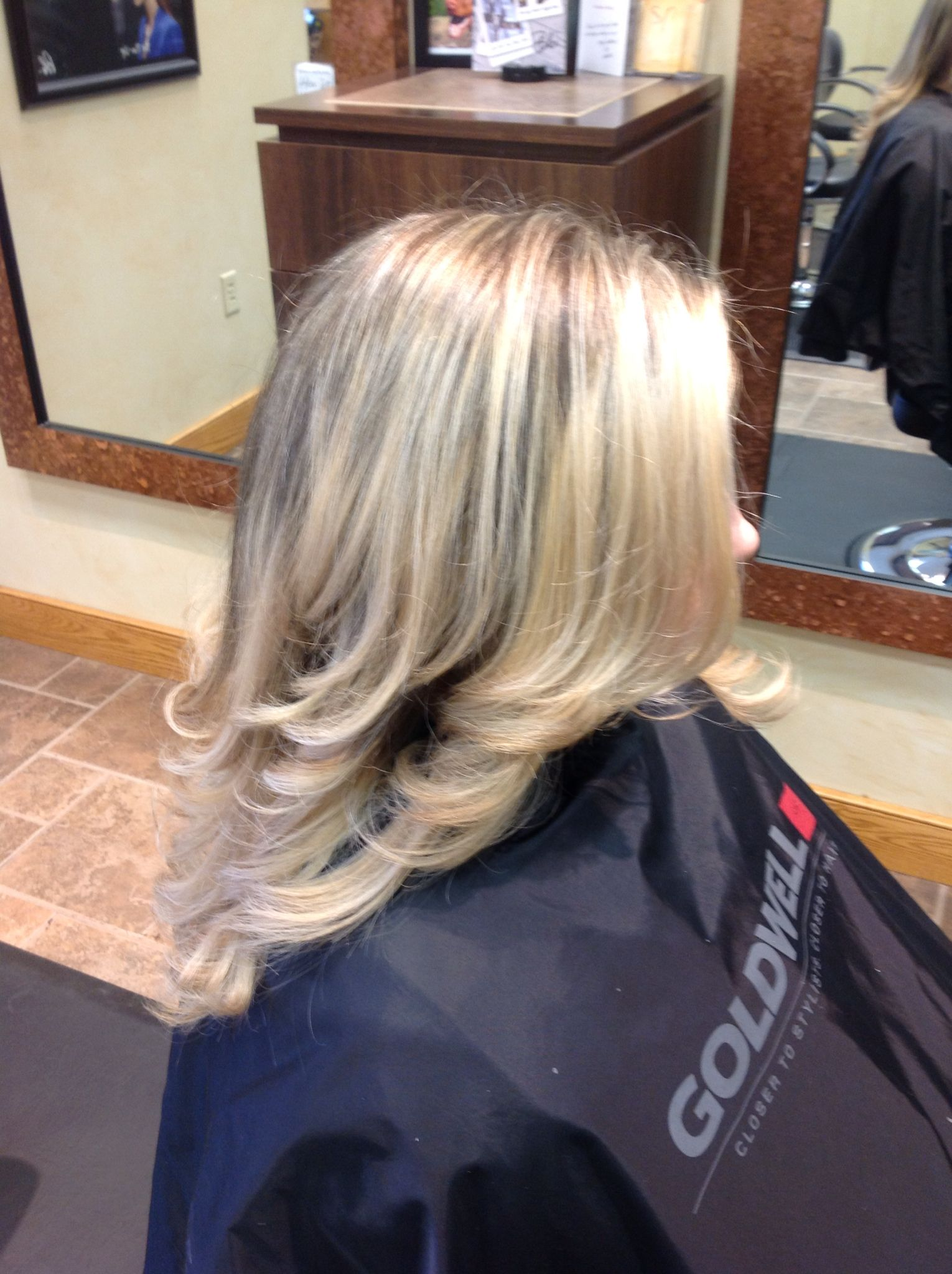 On her way to platinum blonde. Highlight by our stylist Emma