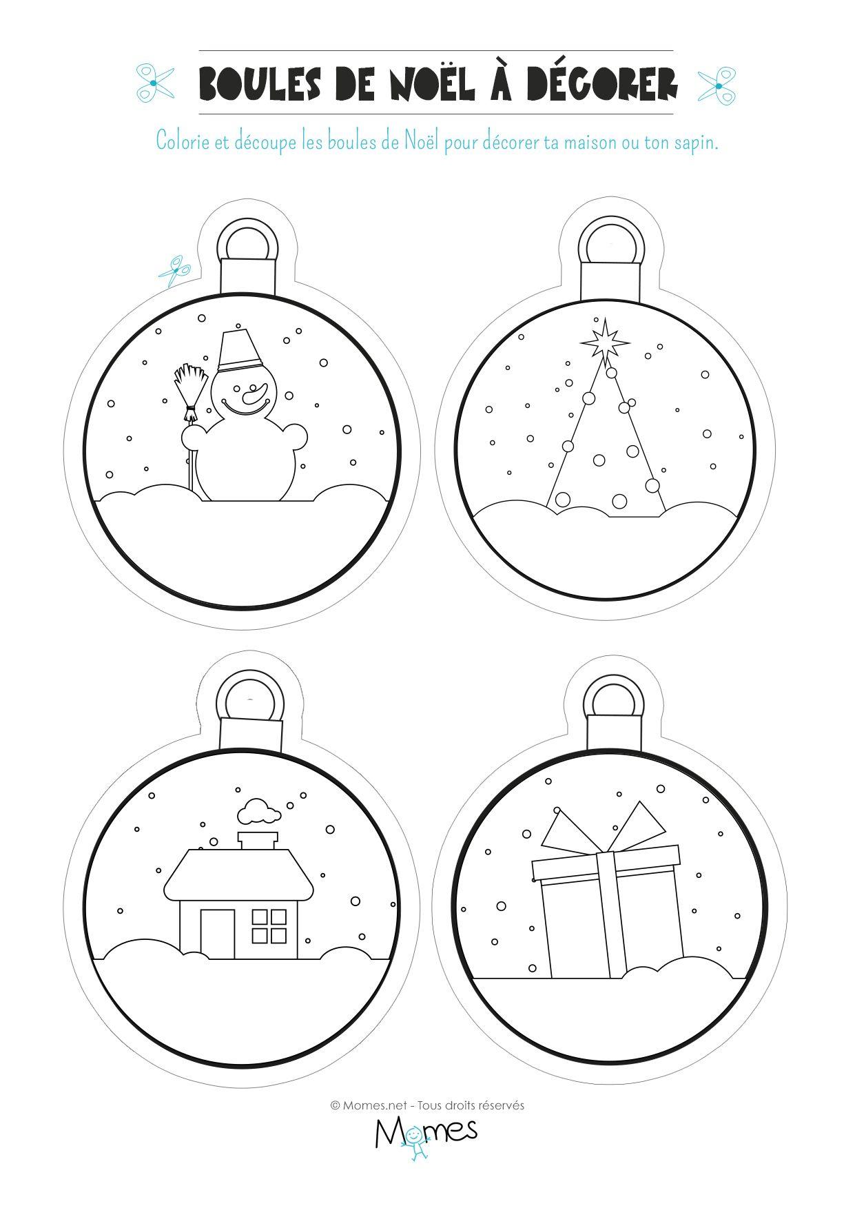 100 Génial Suggestions Dessin Pour Boule De Noel