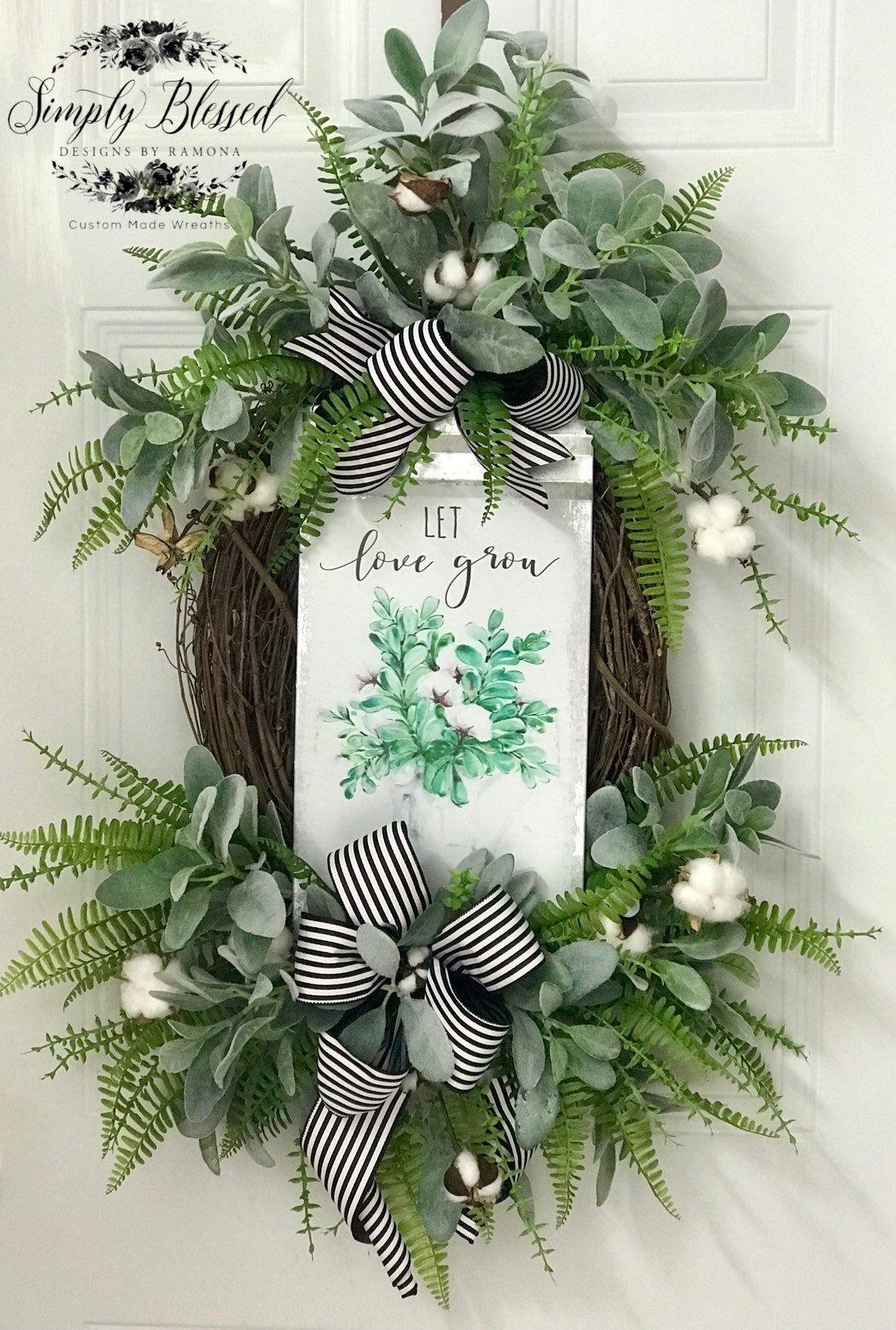 Photo of Let love grow, peasant wreath, peasant wreath, everyday wreath,