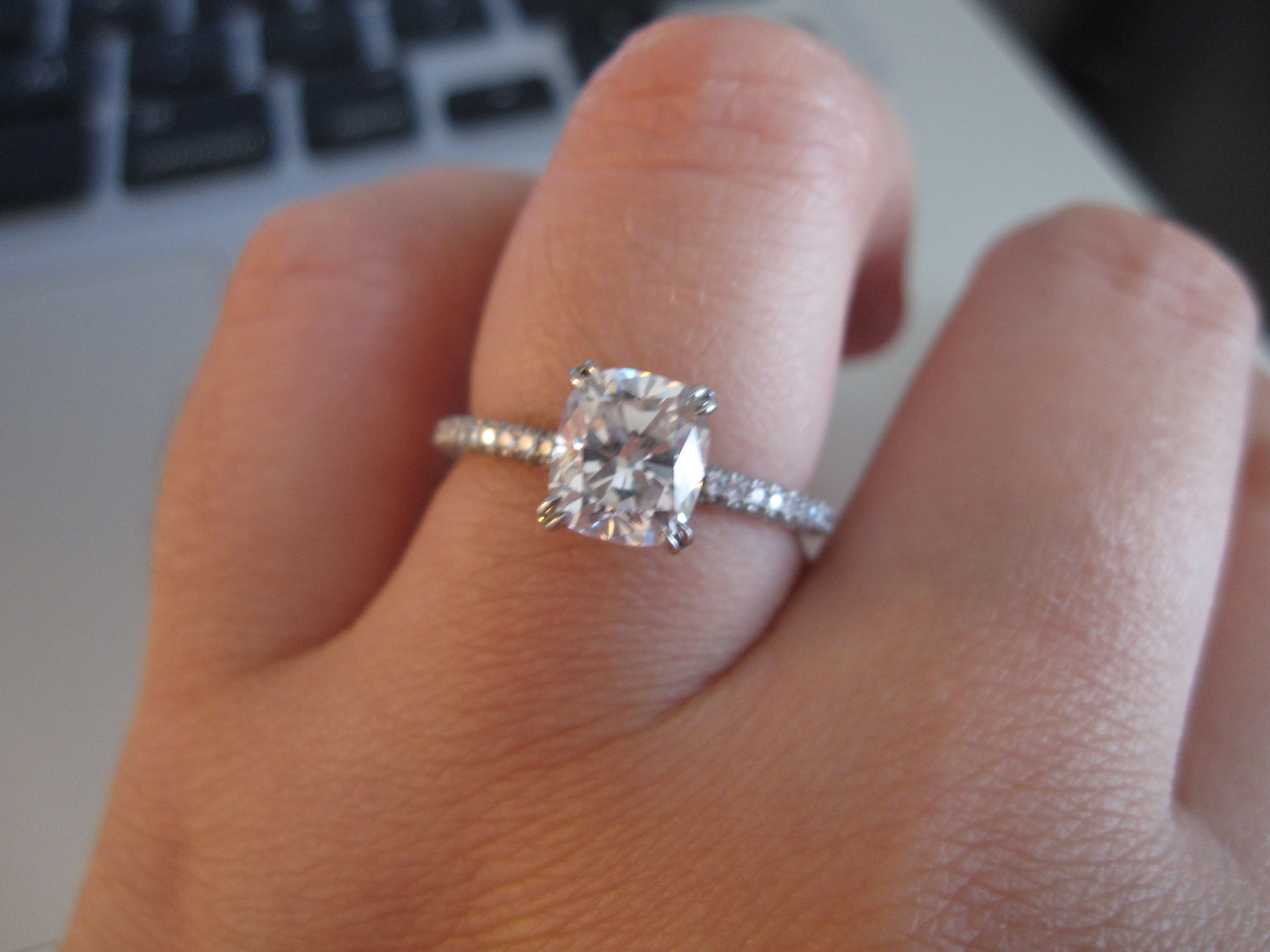 Leon Mege Cushion Cut Engagement Ring
