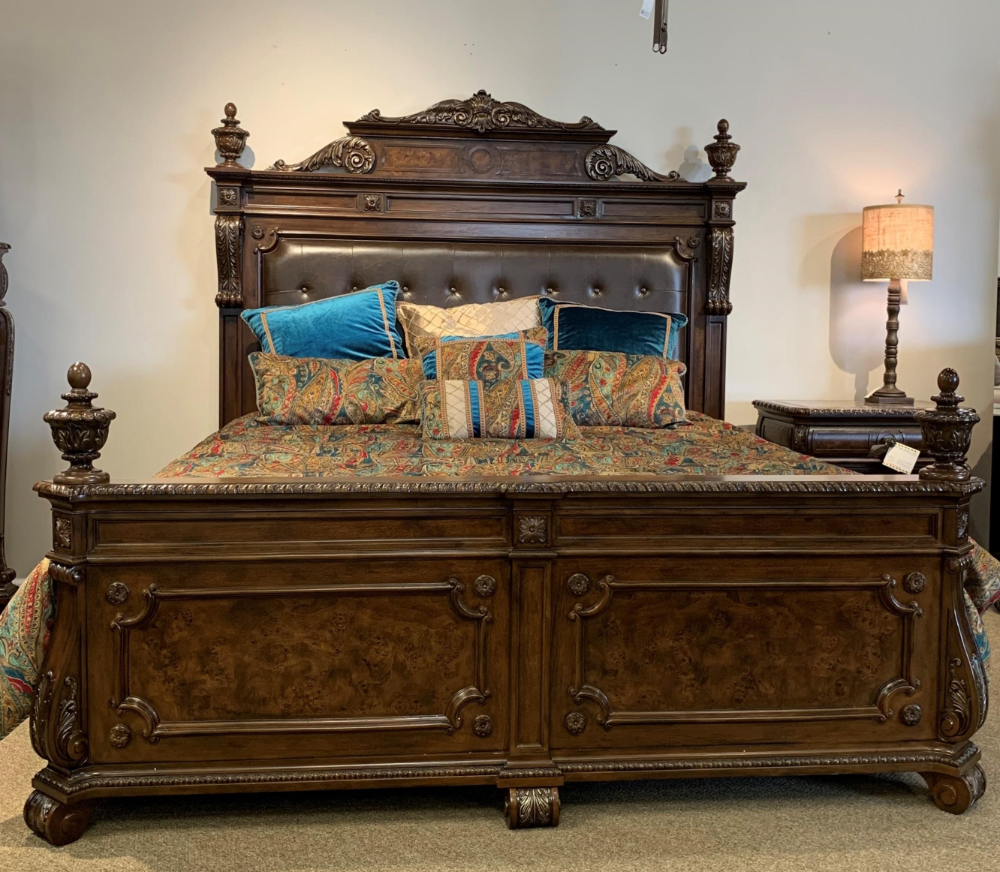 B2161 King Leather Tufted Headboard And Footboard By Home Insights Howell Furniture Headboard Footboard King Bedroom Sets