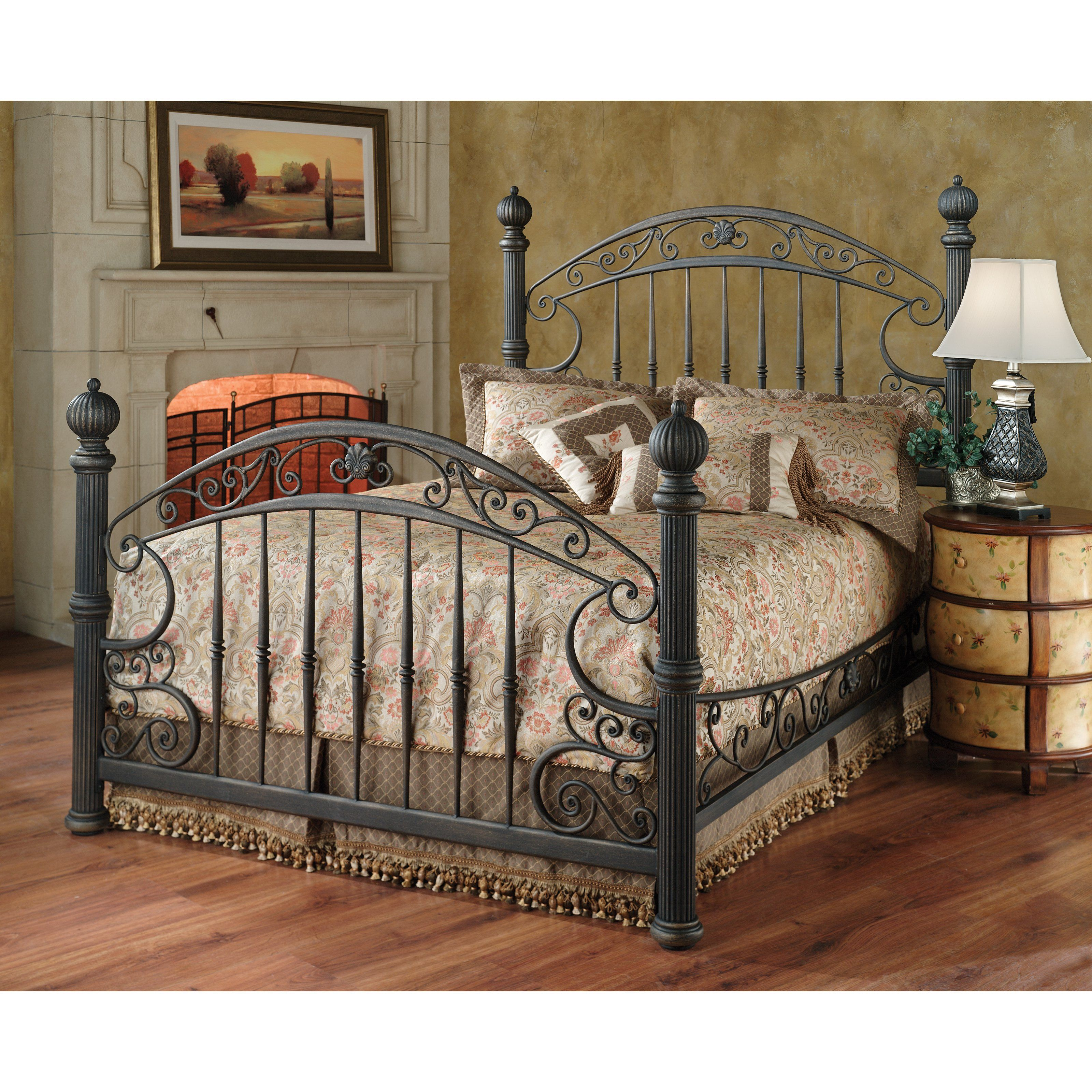 Hillsdale Chesapeake Bed - The Hillsdale Chesapeake Poster Bed is an  experiment in paradoxical design, as heavy wrought iron twists into a soft,  ...