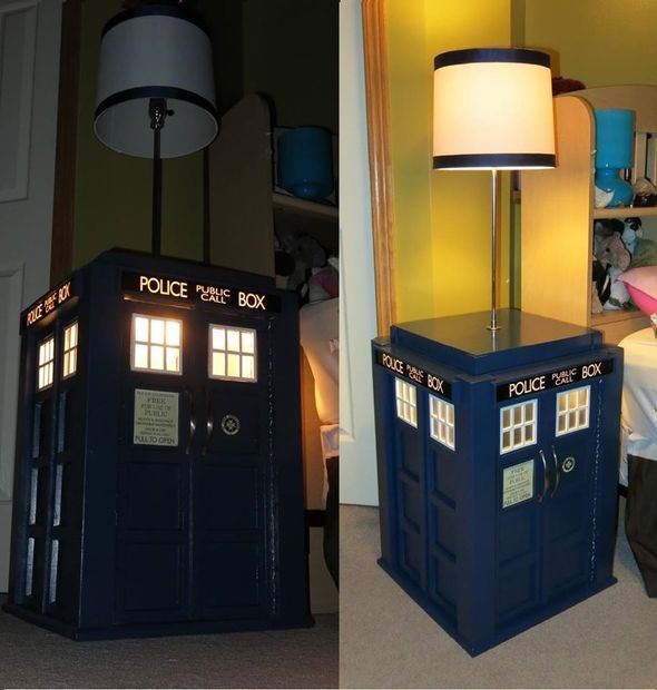 Table With Built In Lamp Custom Light Up Tardis Bedside Table With Built In Lamp  Tardis Room Kids Design Decoration