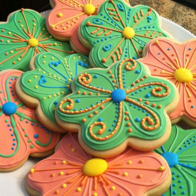 Decorated Sugar Cookies | Flower decorated sugar cookies | ~Sugar Cookies~