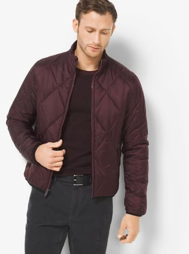 Packable Quilted-Nylon Down Jacket