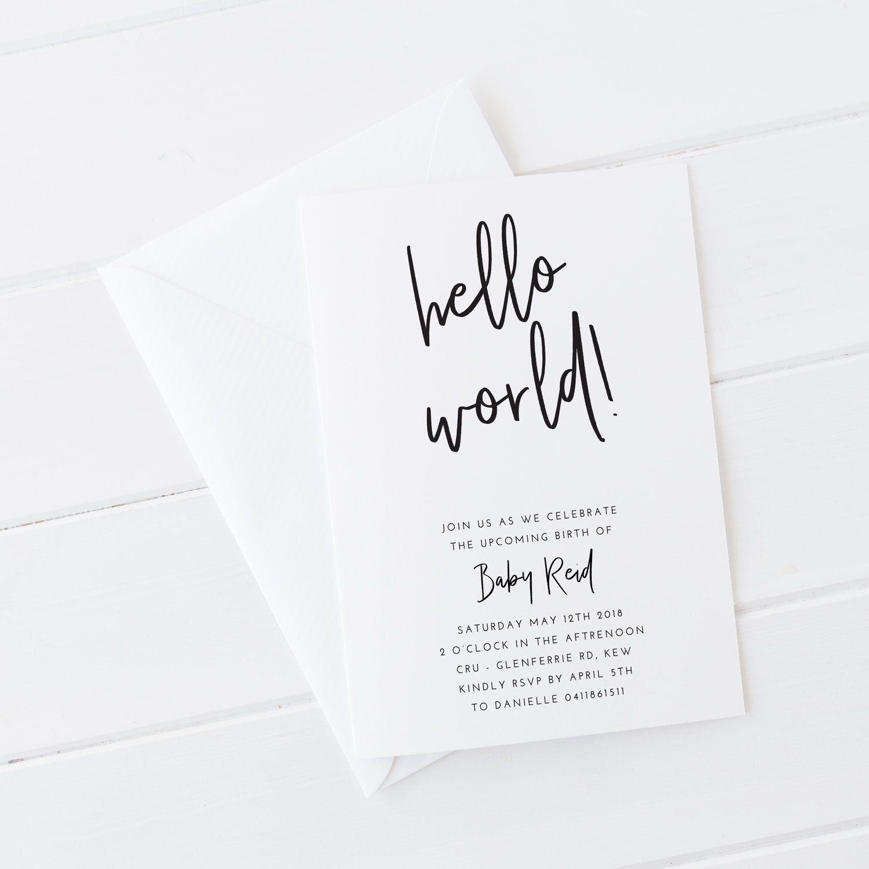 Printable invitations, Baby Shower DIY, Baby shower