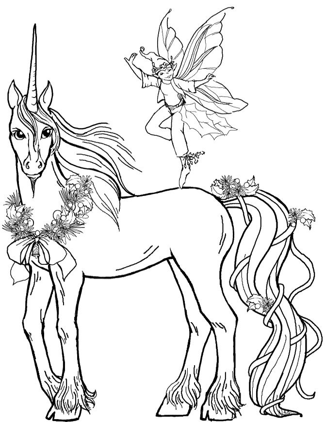 Free Unicorn With Fairy Coloring Pictures Unicorn Cartoon Coloring Pages Horse Coloring Pages Fairy Coloring Pages Animal Coloring Pages